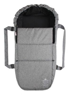 Taška pro kojence OXFORD - středně šedá - černá uvnitř
