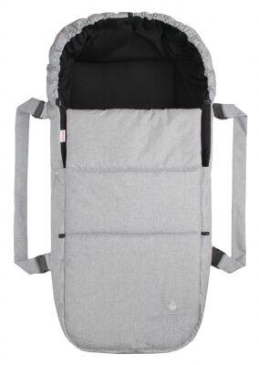 Taška pro kojence OXFORD - světle šedá - černá uvnitř