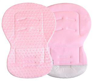 Unipodložka MOBY - Minky růžová srdíčka + ba růžová