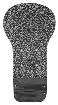 Vložka GRAND - černá + potisk stříbrné kytky