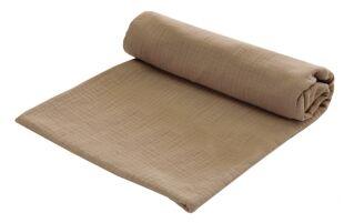 Zavinovací deka MUŠELÍN 120x120 cm - béžová