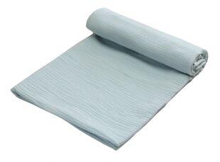 Zavinovací deka MUŠELÍN 120x120 cm - pastelová modrá