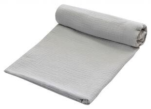 Zavinovací deka MUŠELÍN 120x120 cm - světle šedá