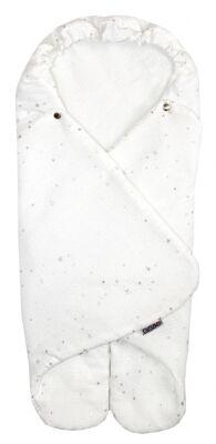 Zavinovačka MUSE - bílá stříbrné hvězdy