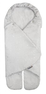 Zavinovačka MUSE - světle šedá stříbrné hvězdy