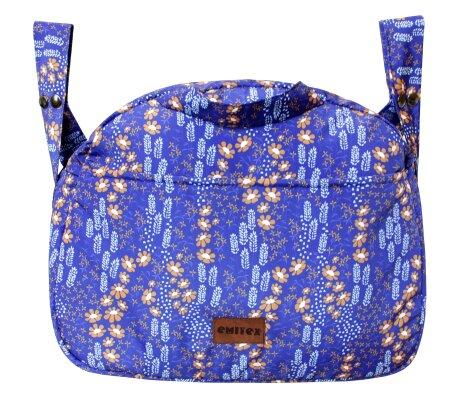 Taška EMMIK květinky - modrá
