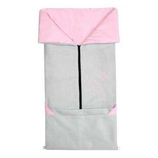 Fusak 2v1 FANDA sv. šedý / růžový