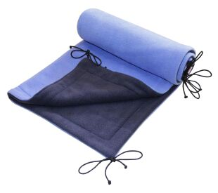 Deka  70x100 cm fleece tm. modrá + světle modrá