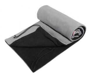 Deka 70x100 fleece - černý + šedá